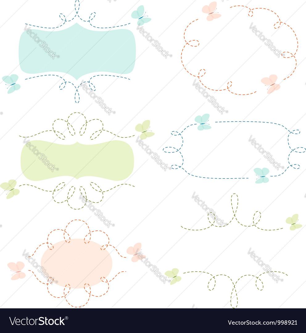 Butterflies banners vector image