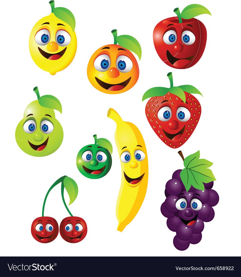 fruit cartoon royalty free vector image vectorstock