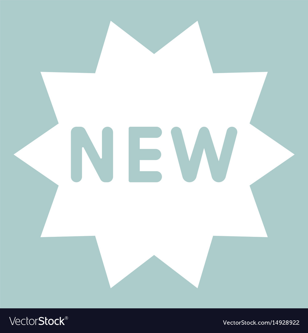 New symbol the white color icon vector image