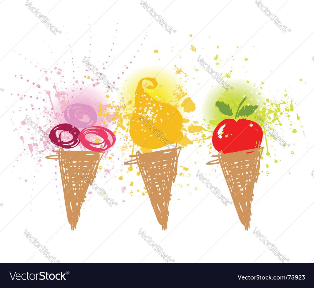 Cartoon ice-cream holiday Vector Image