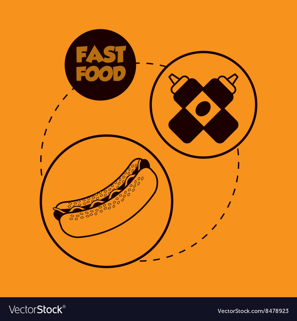 Flat about fast food design vector image
