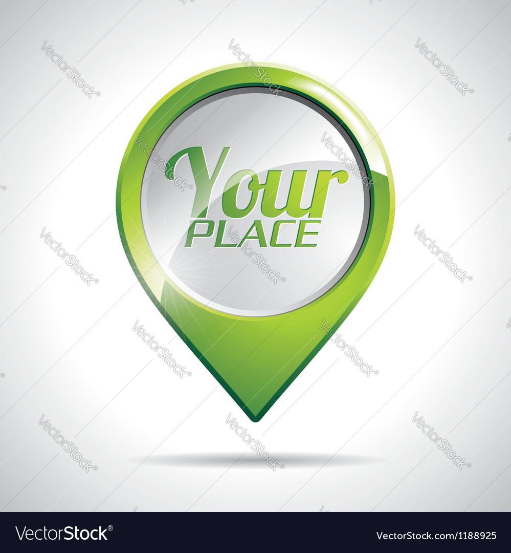 Design with round map pointer icon vector image