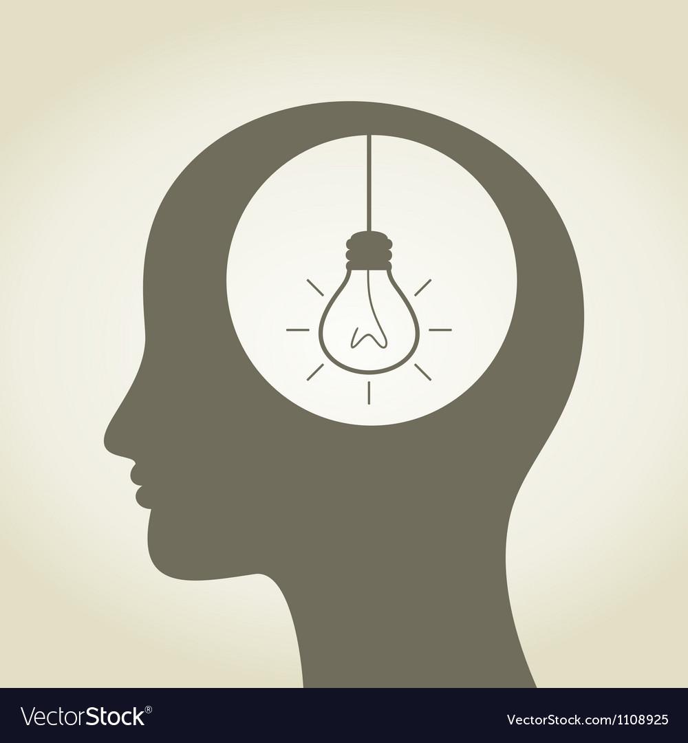 Idea in a head vector image