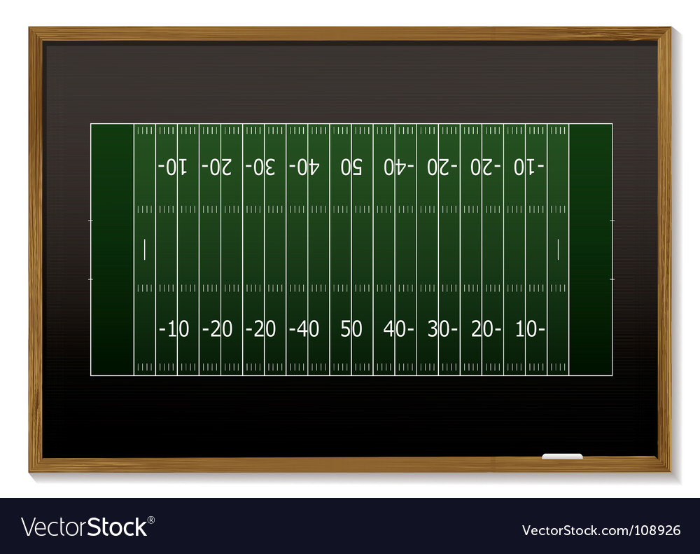 American football blackboard vector image