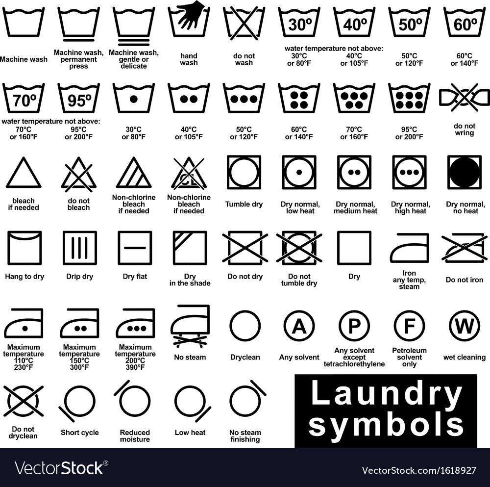 Icon set of laundry symbols royalty free vector image icon set of laundry symbols vector image biocorpaavc Gallery