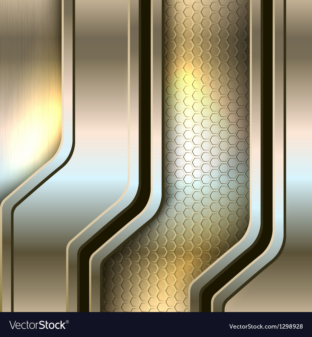 Abstract background metallic banners vector image