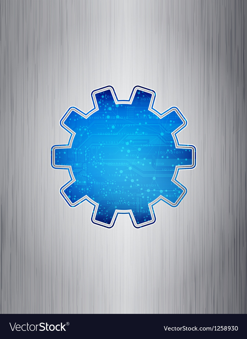 figure gears technological communications icon