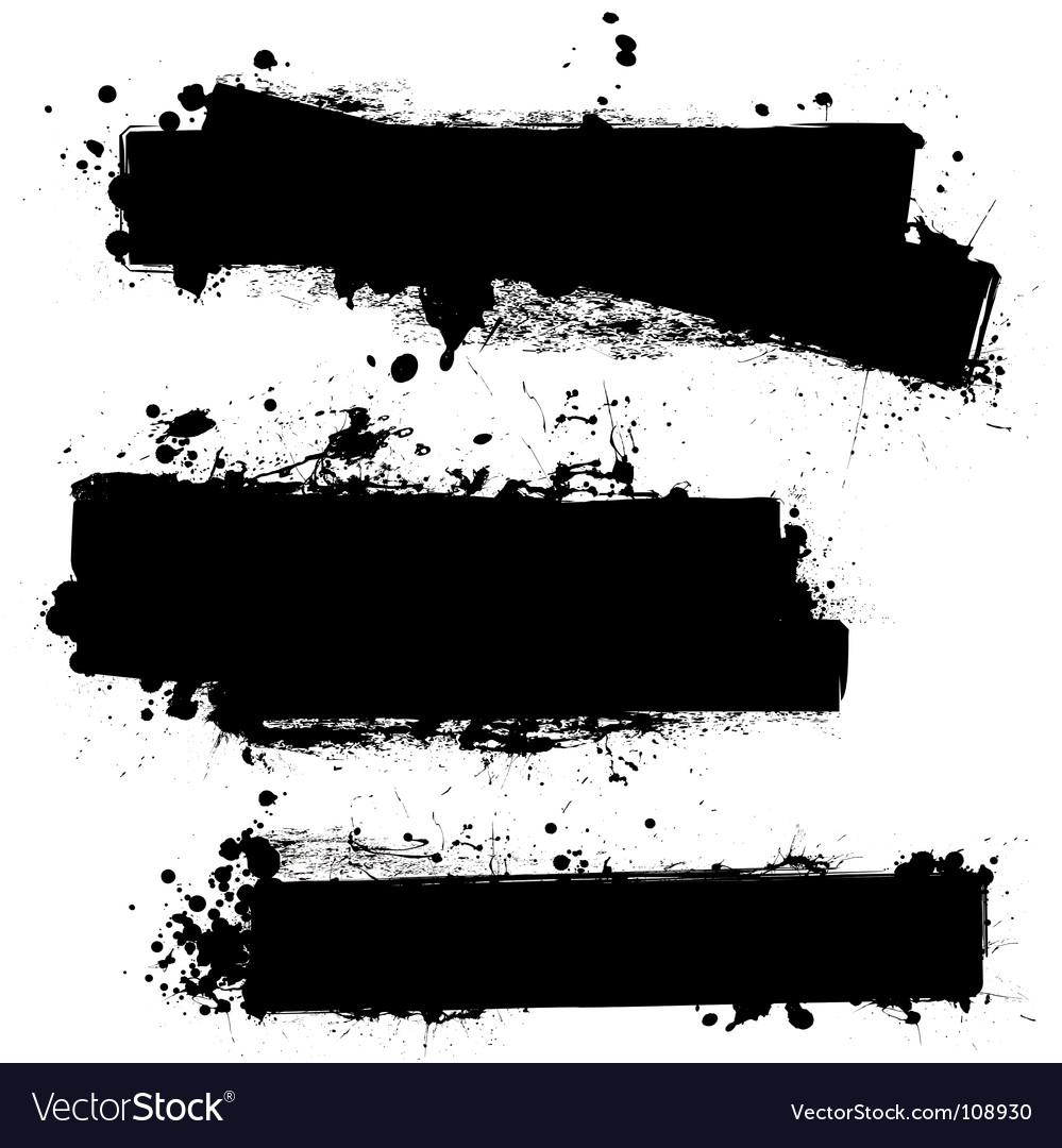 Grunge strips vector image