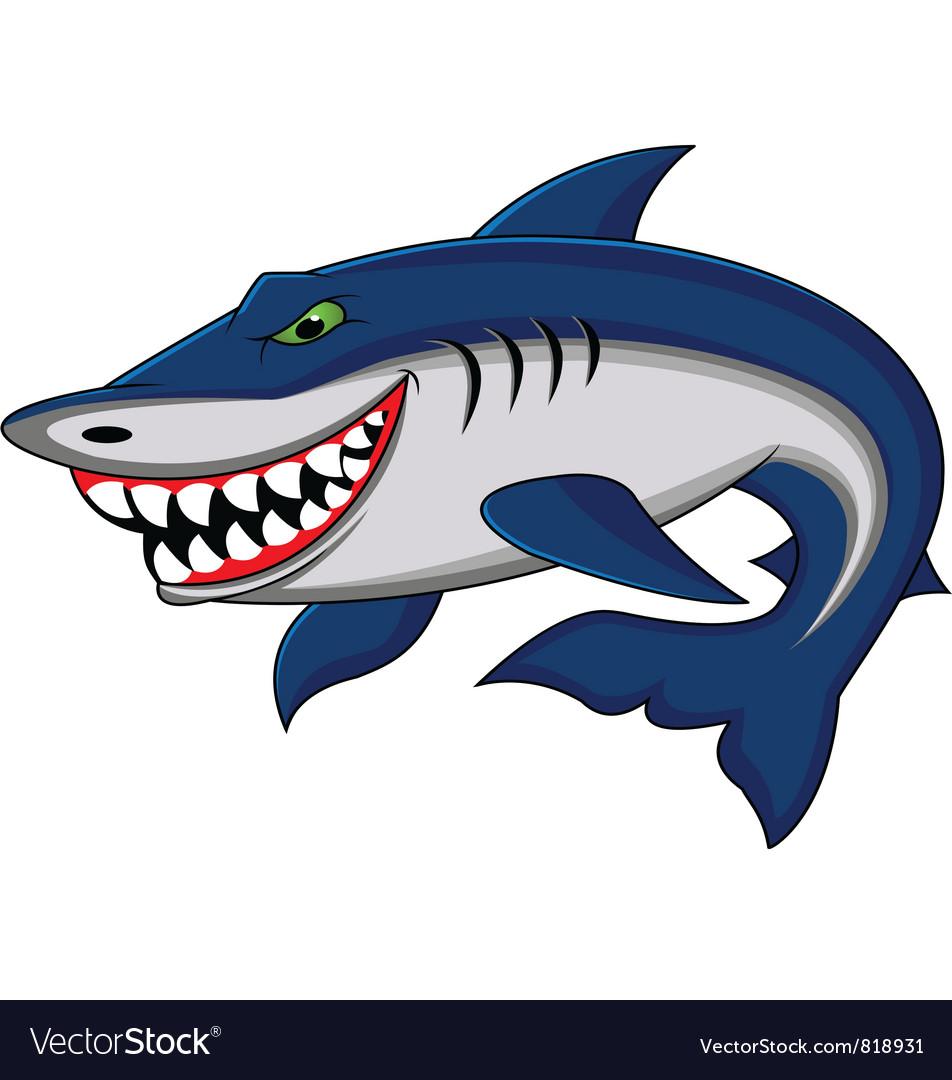 shark cartoon royalty free vector image vectorstock