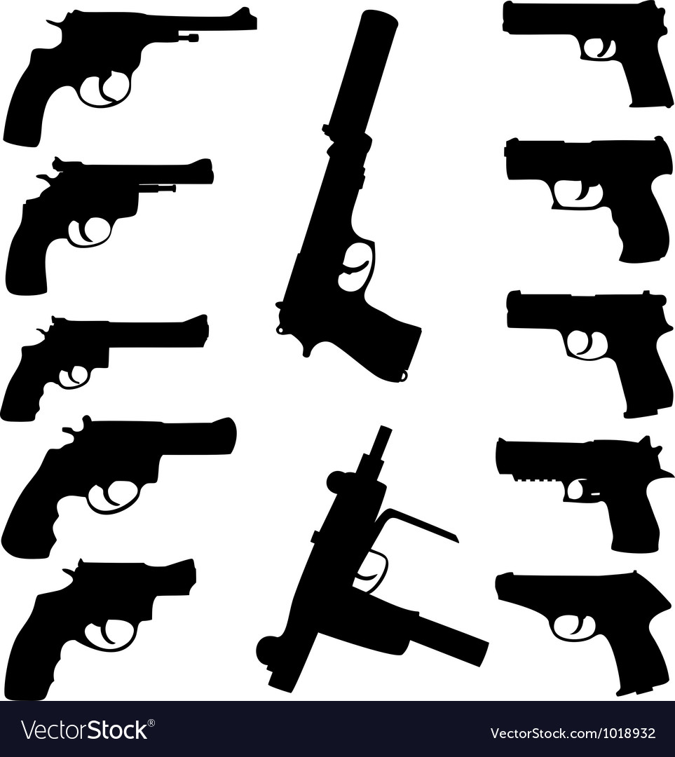 Guns set vector image