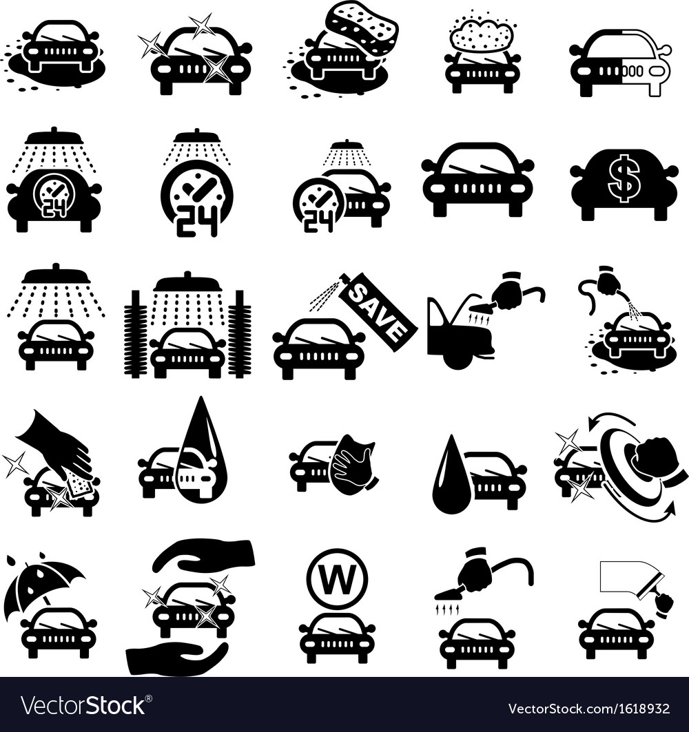 car wash icons set royalty free vector image vectorstock Free Vector Art Downloads Free Vector Clip Art
