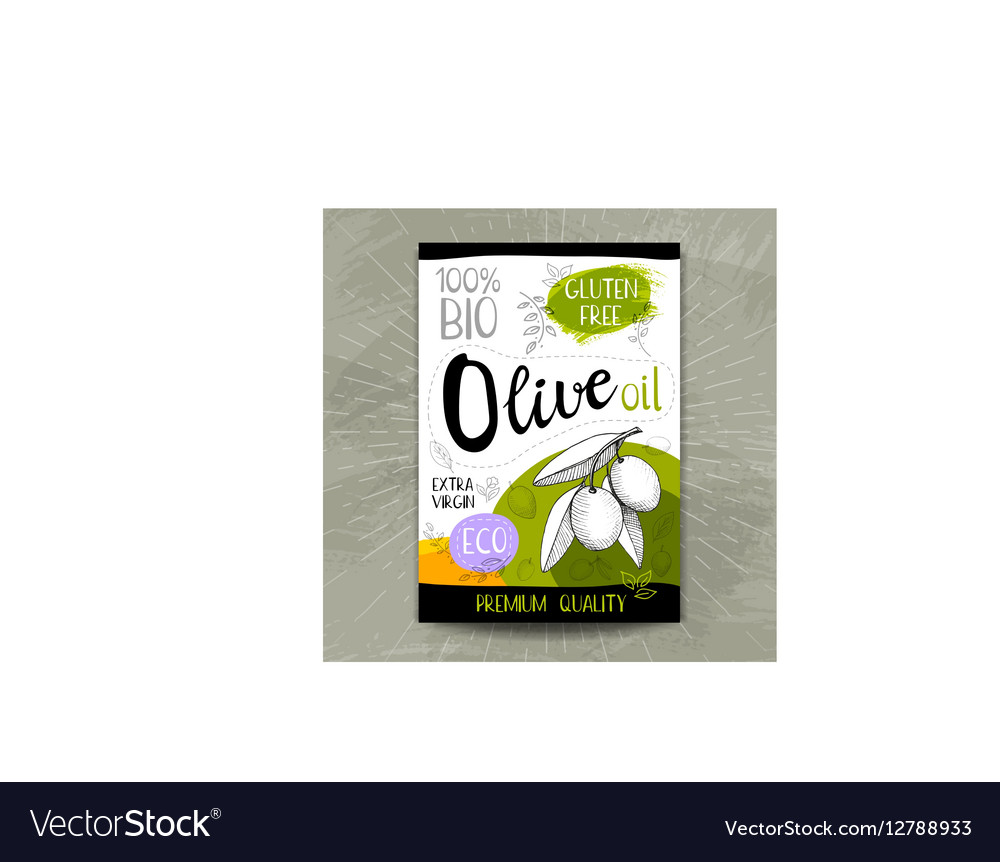 Hand drawn labels food spices vector image