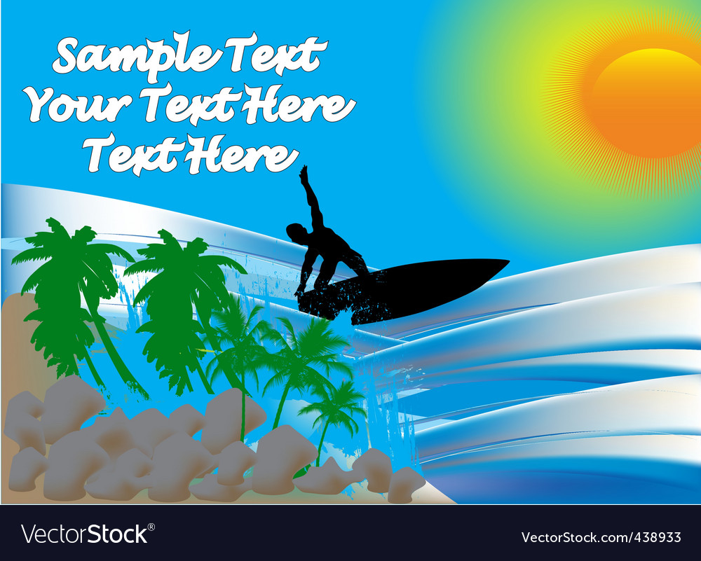 Surfer on sea vector image