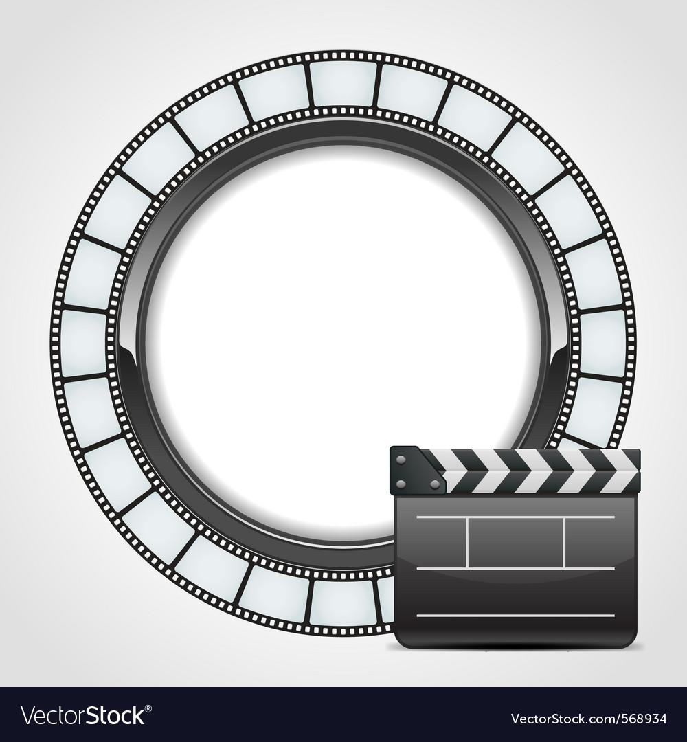 Film clap background vector image