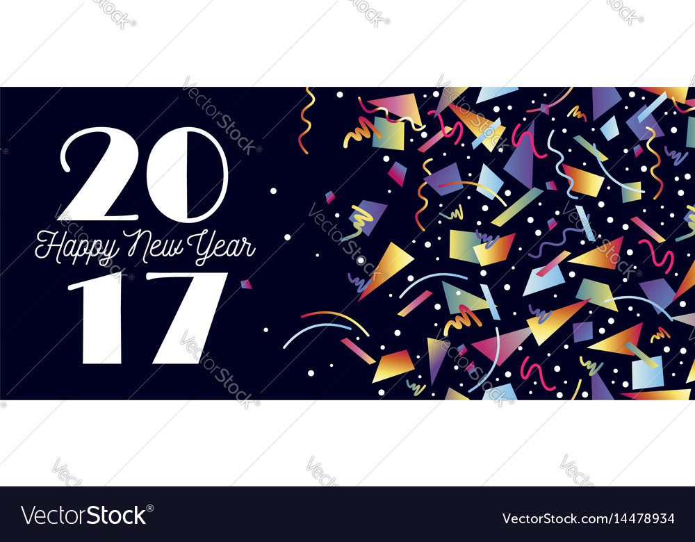 Happy new year 2017 party celebration web header vector image