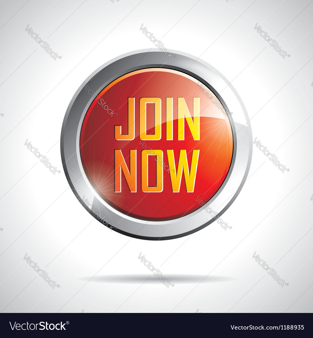 Join now labels with shiny styled design vector image