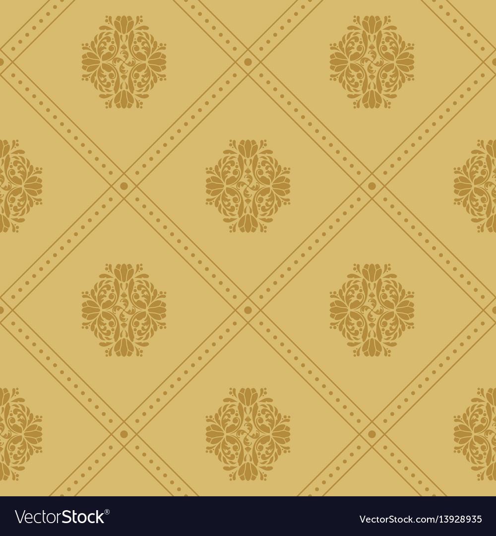 Vintage royal pattern vector image