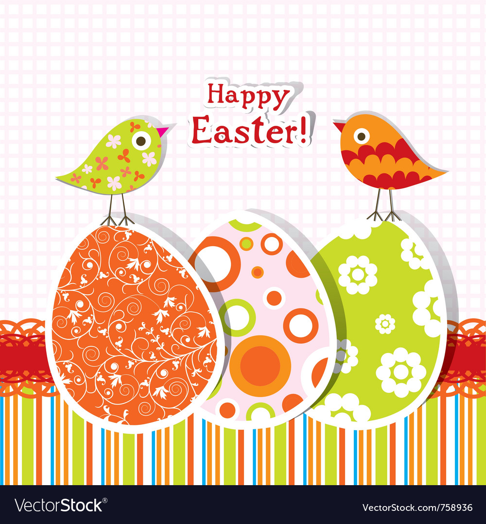 Template easter greeting card Royalty Free Vector Image VectorStock – Easter Greeting Card Template