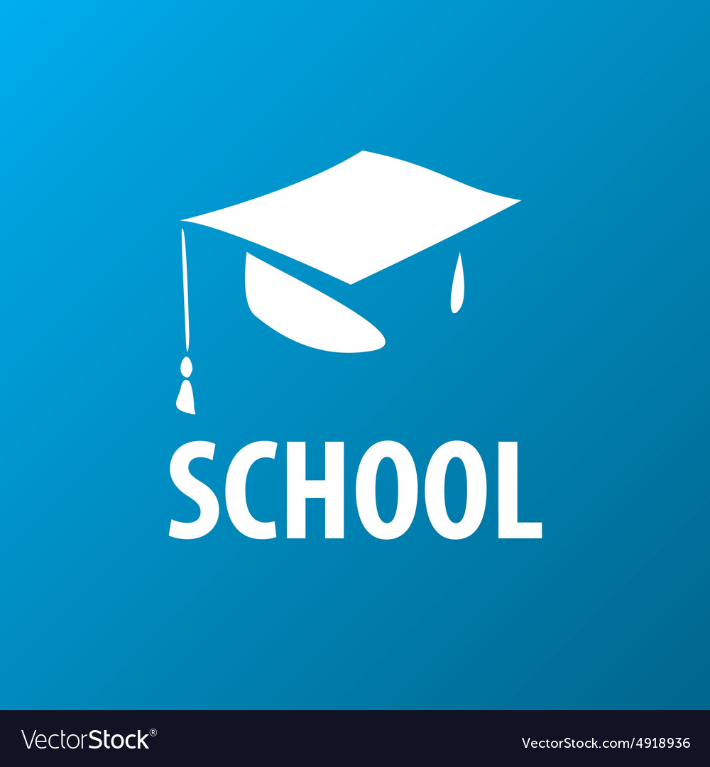 Logo square academic cap vector image