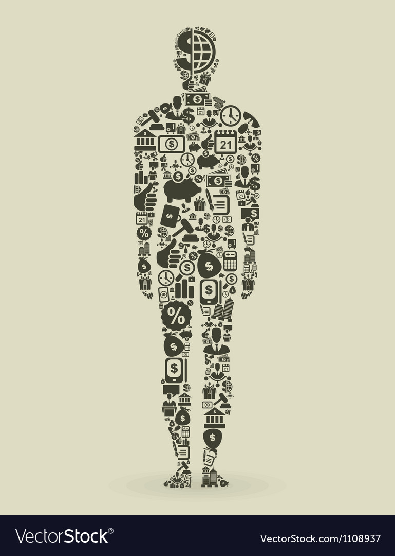 Person business vector image