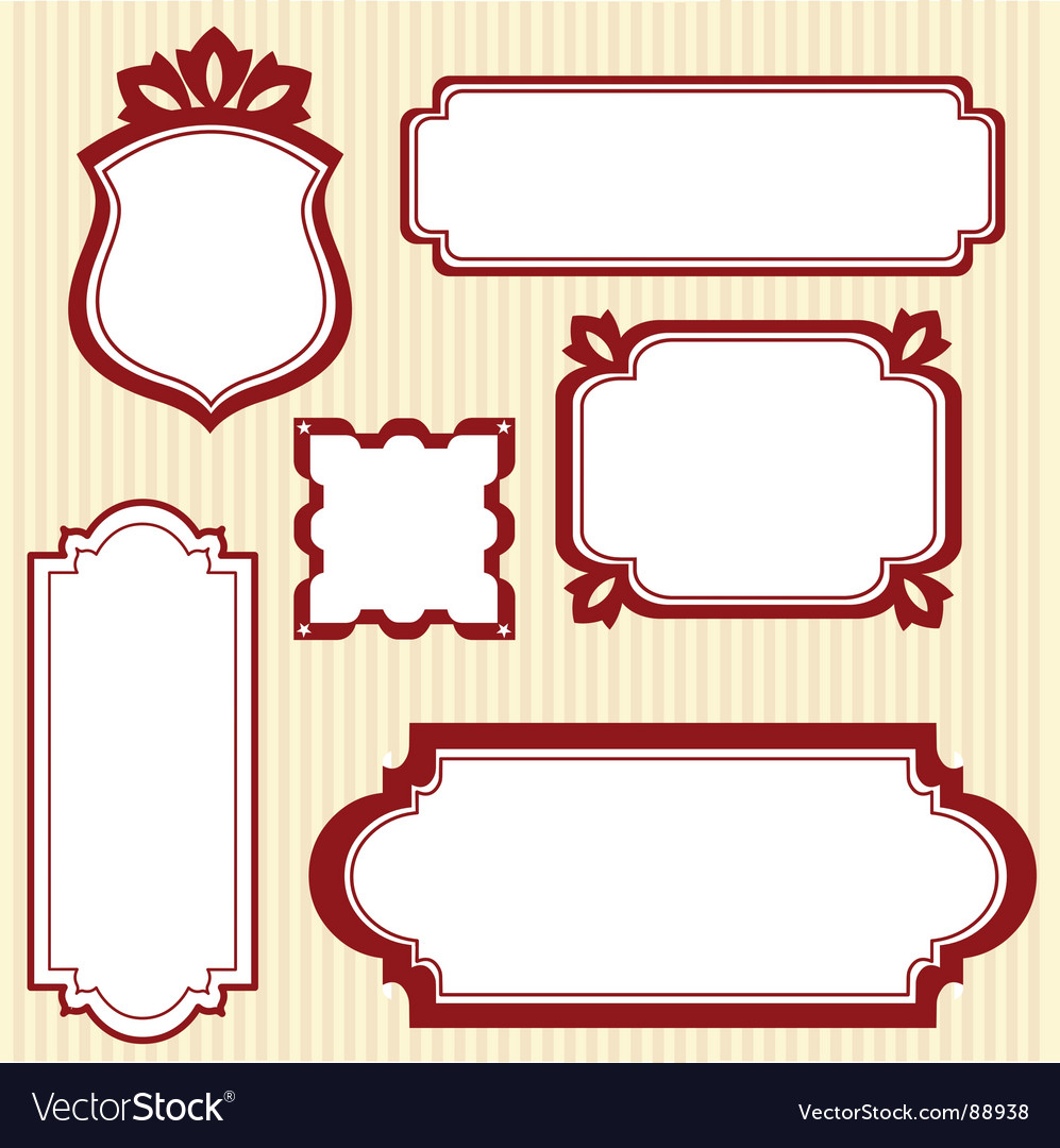 Book plates vector image