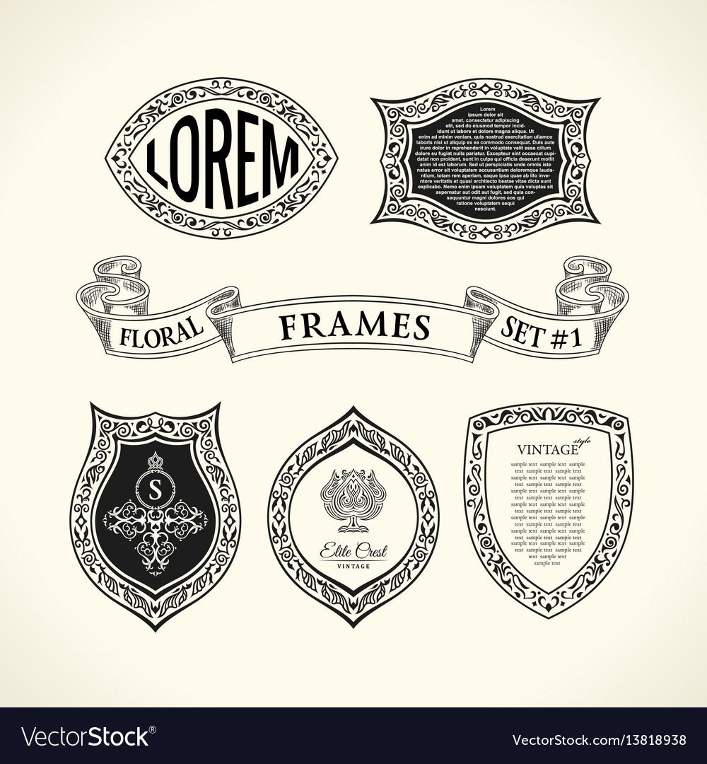 Calligraphic luxury line symbol flourishes vector image