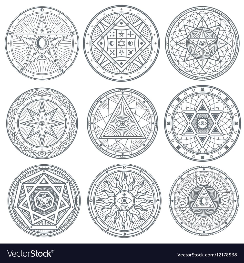 Occult mystic spiritual esoteric symbols vector image occult mystic spiritual esoteric symbols vector image biocorpaavc