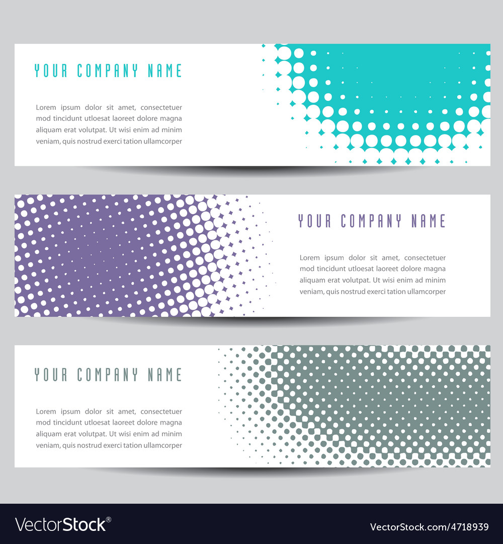 Dot banners vector image