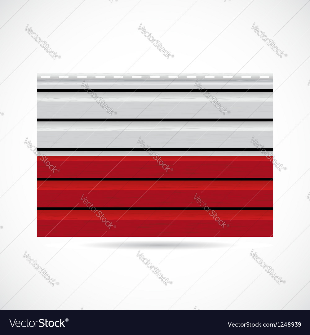 Poland siding produce company icon vector image