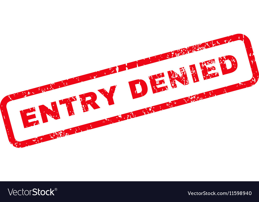 Entry Denied Text Rubber Stamp vector image