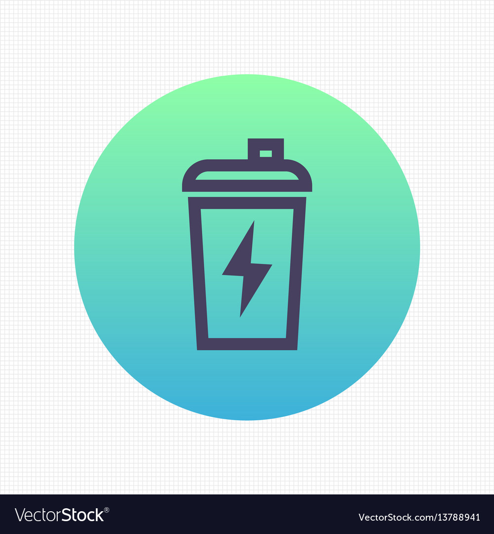 Sport shaker linear icon sign vector image