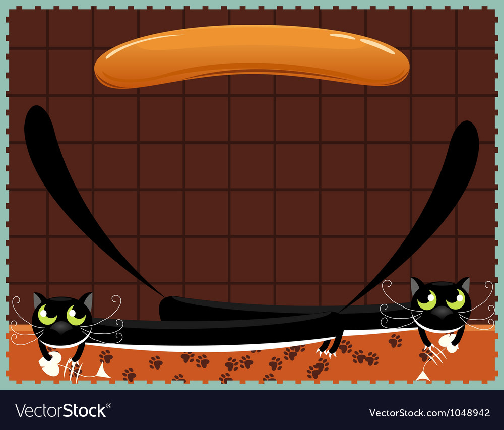 Two black cats vector image
