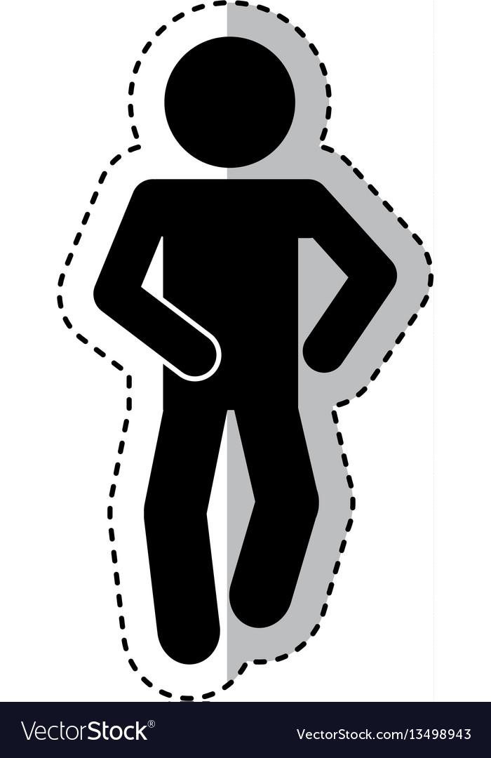 Figure human silhouette running vector image