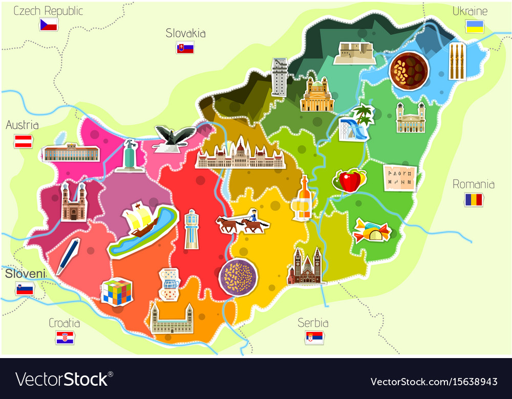 Map Of Hungary Royalty Free Vector Image VectorStock - Hungary map