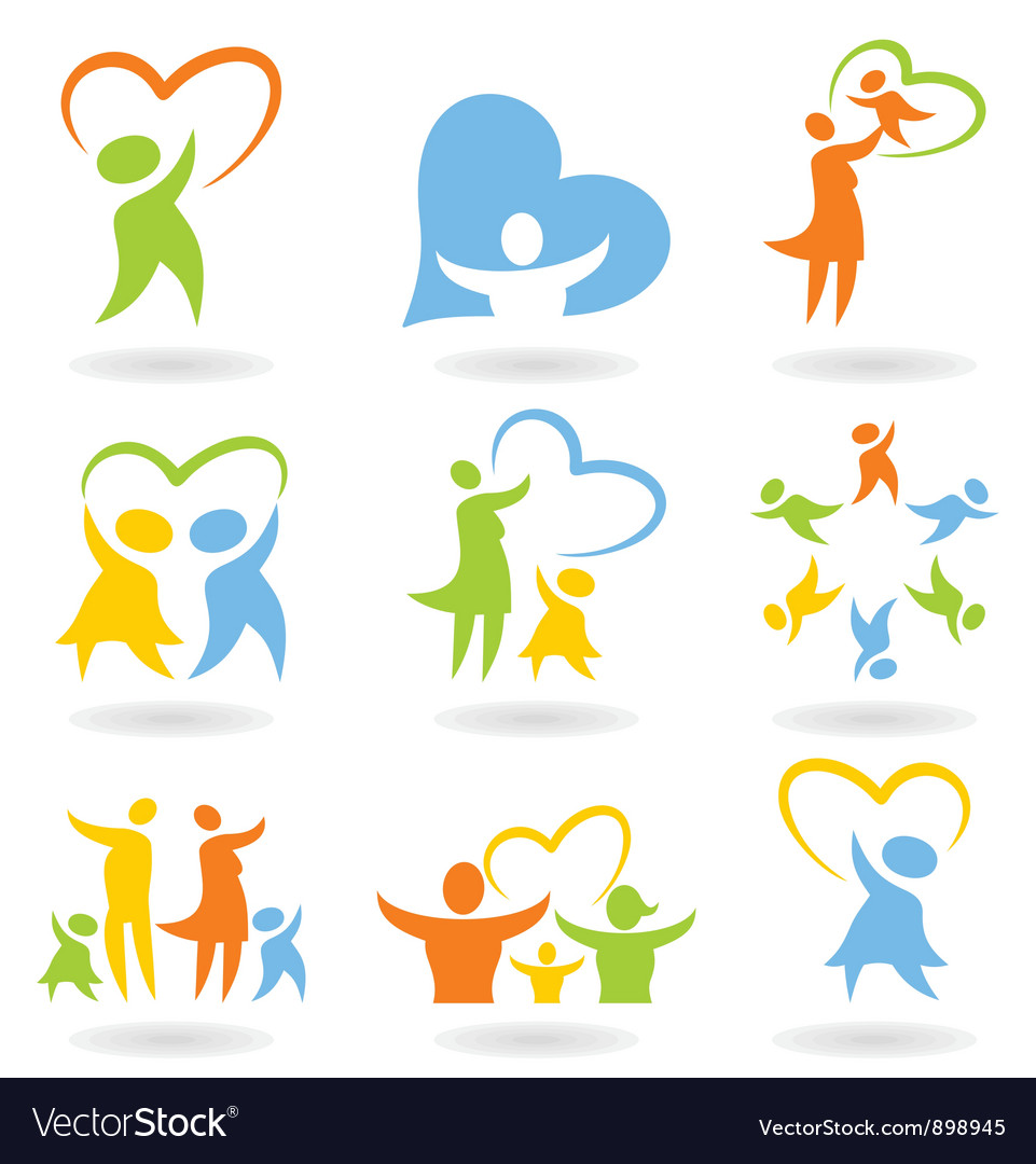 Icons a family4 Vector Image