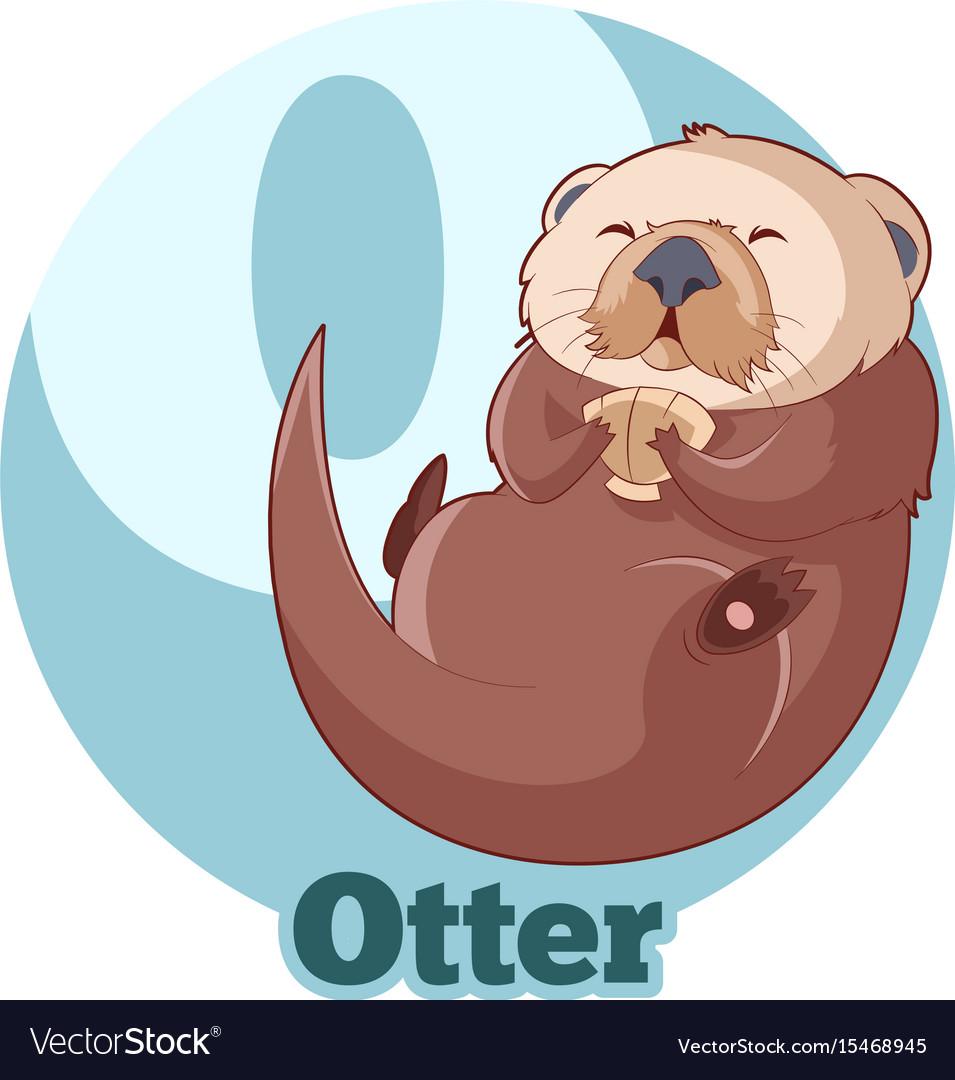 Abc cartoon otter vector image