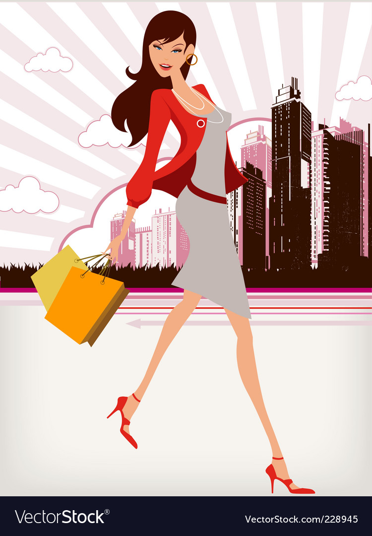 City girl vector image