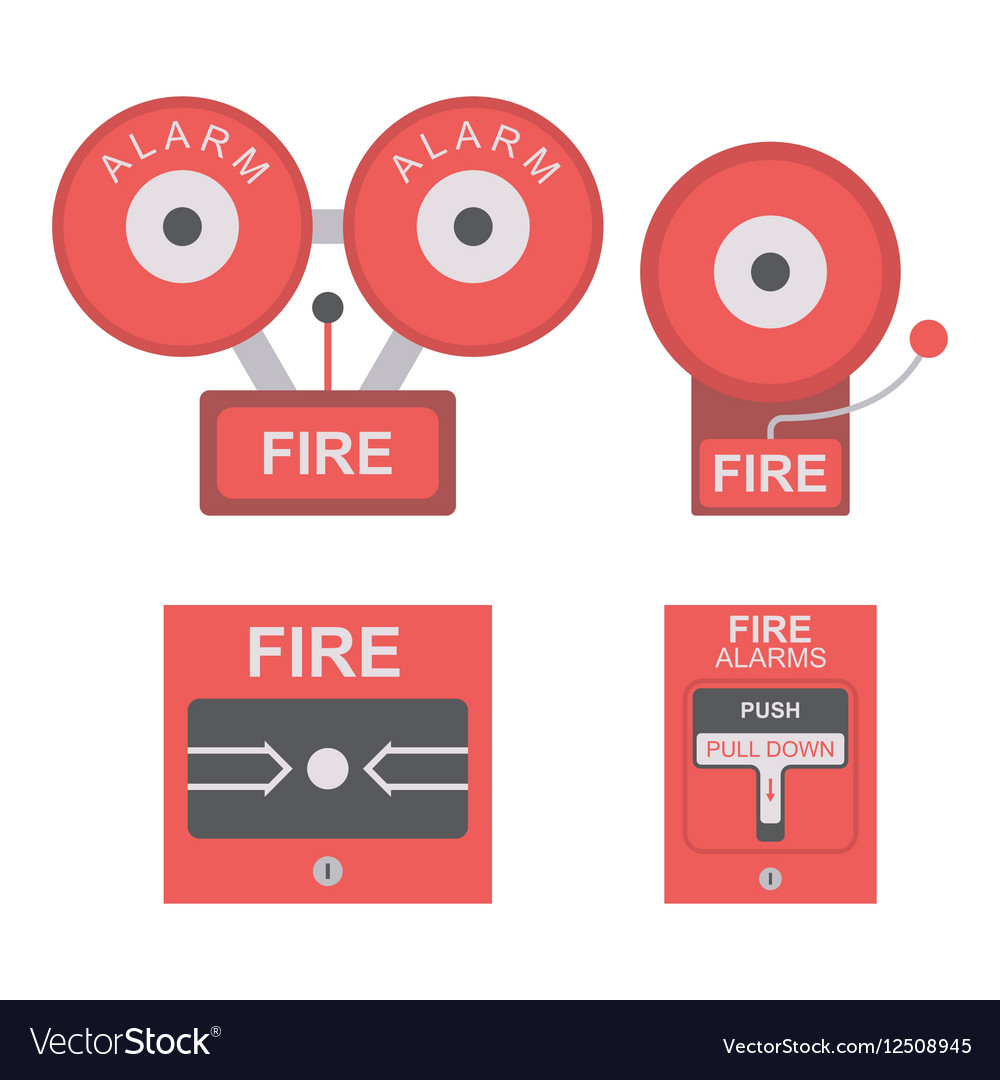 Fire alarm flat icon vector image