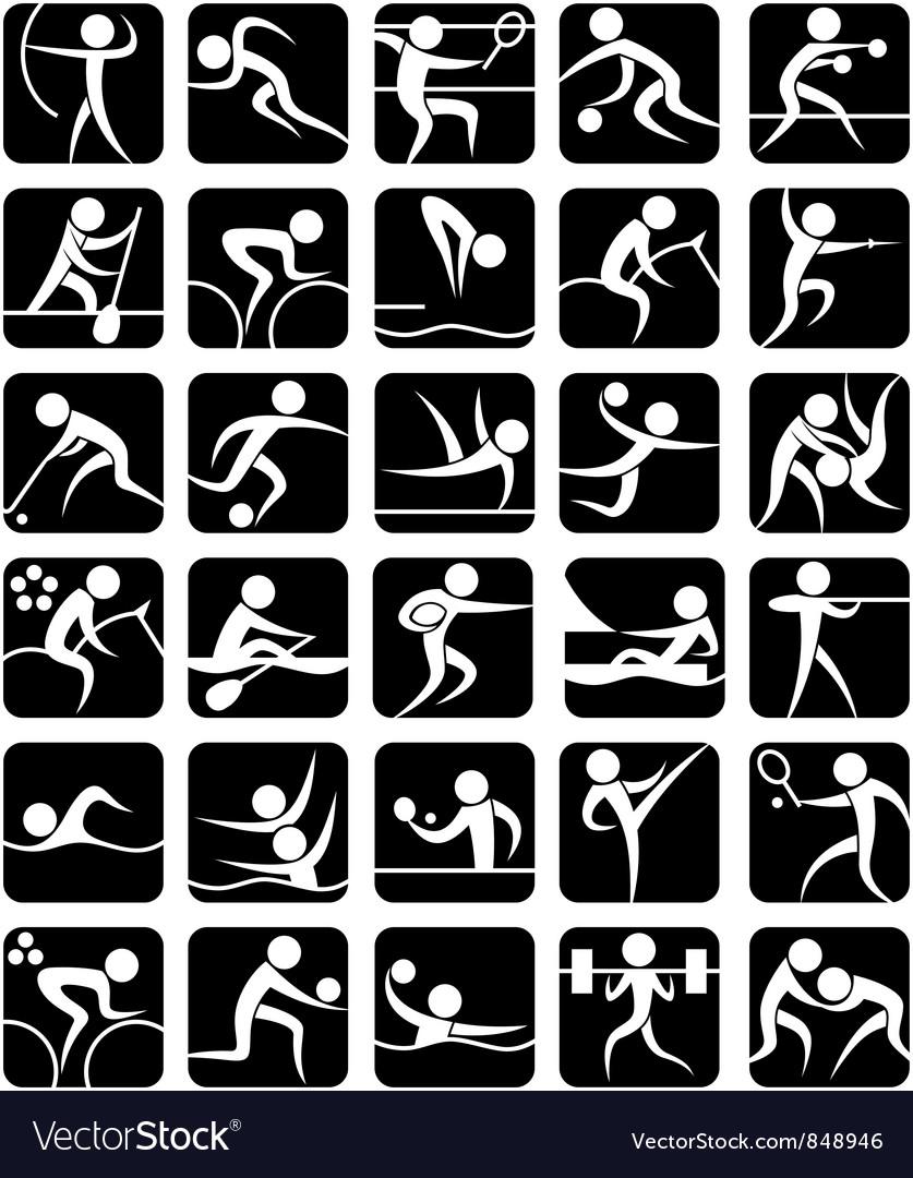 Summer Sports Symbols vector image