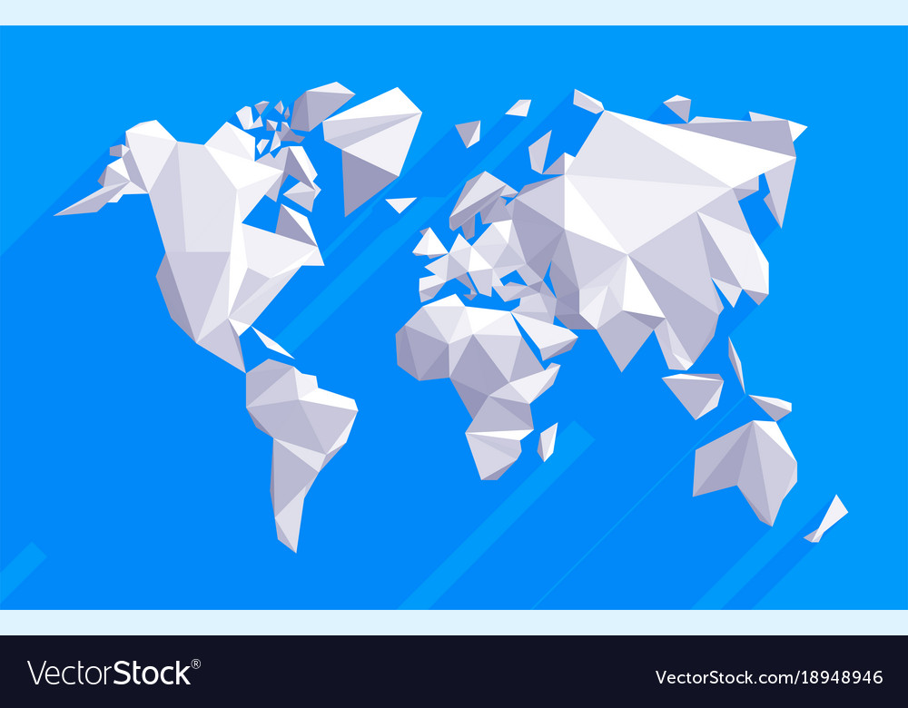 Origami world map royalty free vector image vectorstock origami world map vector image gumiabroncs Choice Image