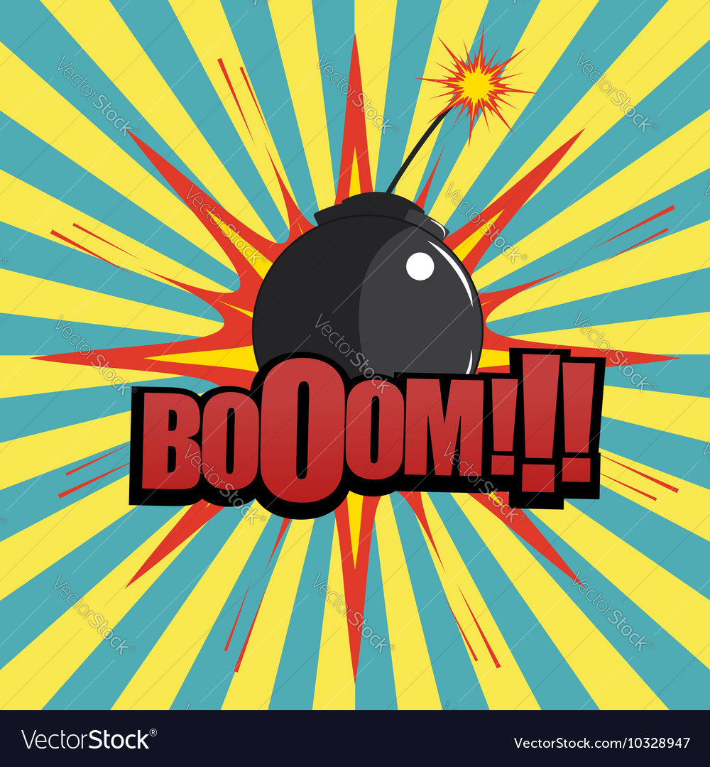 Comic book bomb explosion vector image