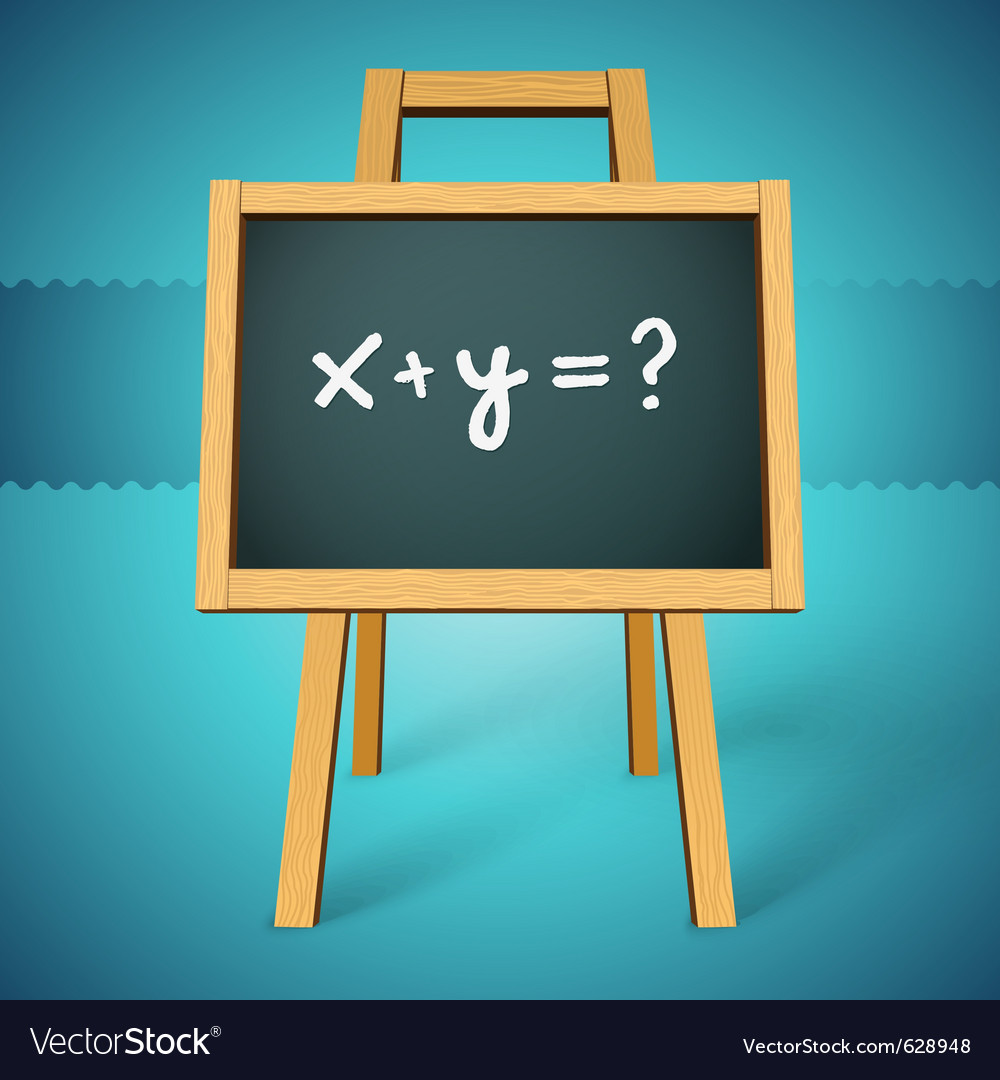 Chalkboard with xy text vector image