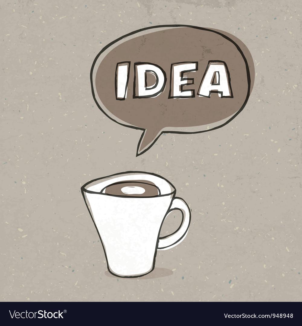 Cup of idea vector image