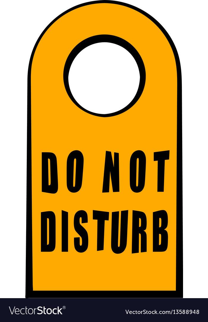 Label do not disturb icon cartoon vector image