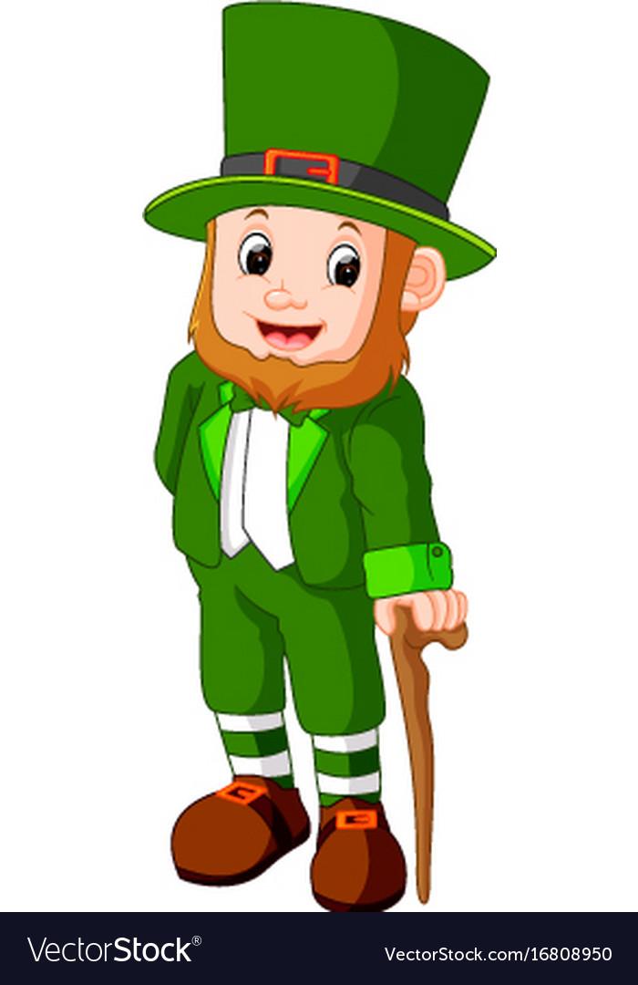 cartoon funny leprechaun royalty free vector image rh vectorstock com free leprechaun vector images leprechaun vector art