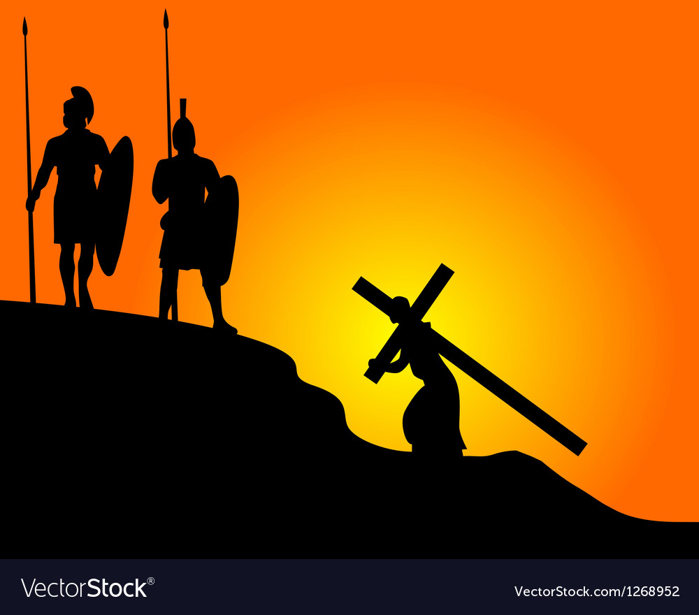 Carrying the cross Vector Image