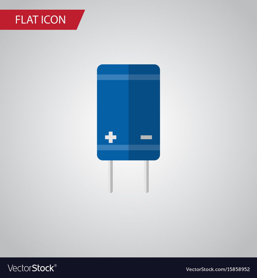 Isolated receiver flat icon transistor vector image