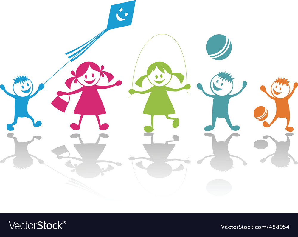 Cartoon children vector image