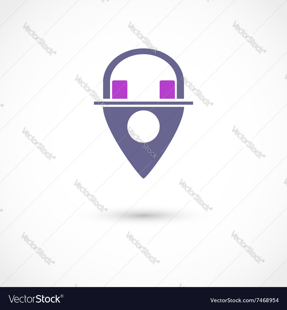 Music store tag vector image