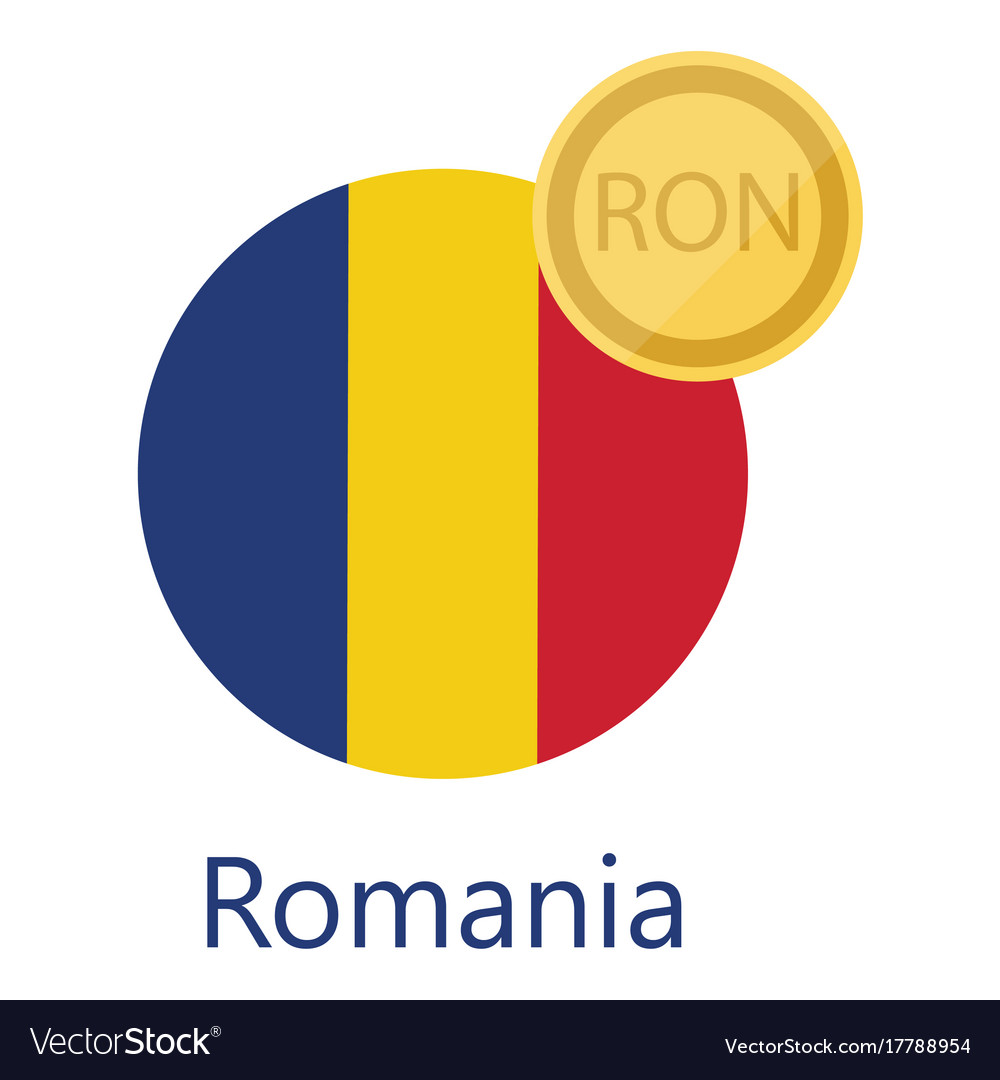 Romania flag and currency vector image